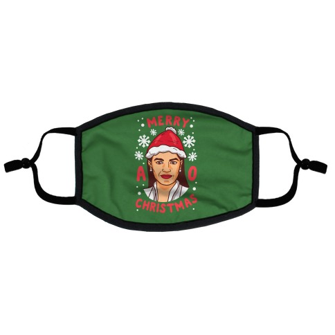 Merry A.O.C. Christmas Flat Face Mask