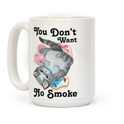 You Don't Want No Smoke Vintage Kitten Coffee Mug