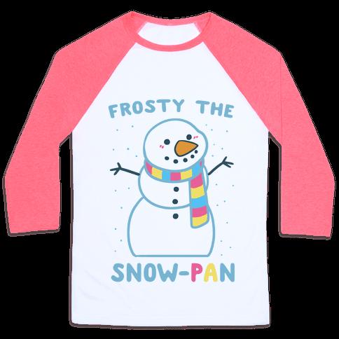 Frosty the Snow-Pan Baseball Tee