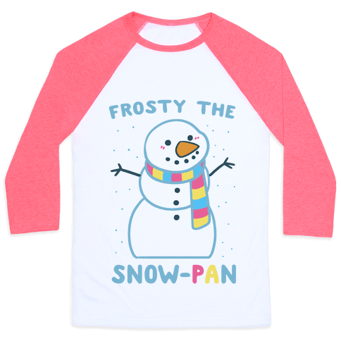 Frosty the Snow-Pan Baseball Tee
