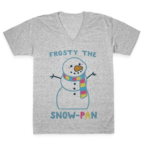 Frosty the Snow-Pan V-Neck Tee Shirt
