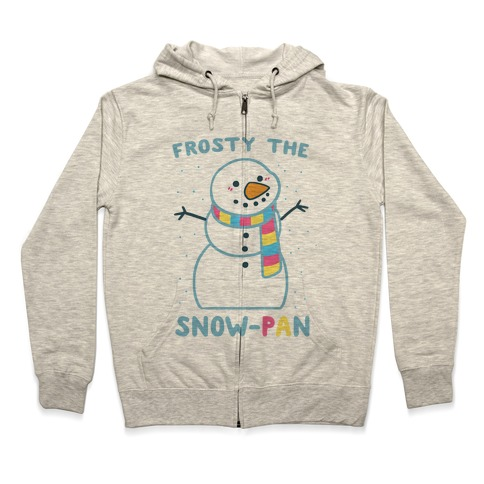 Frosty the Snow-Pan Zip Hoodie