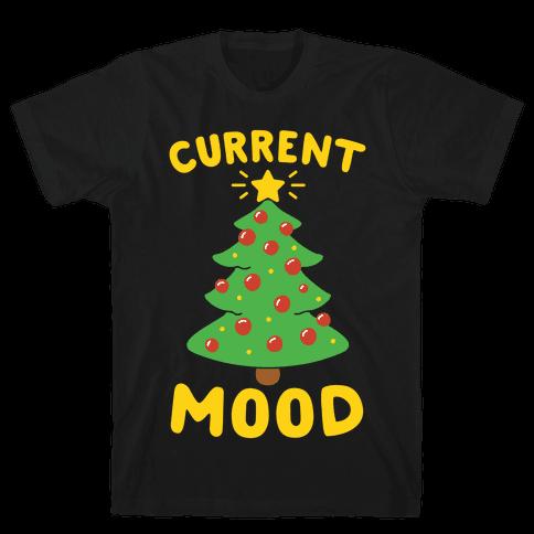 Current Mood Christmas White Print Mens T-Shirt