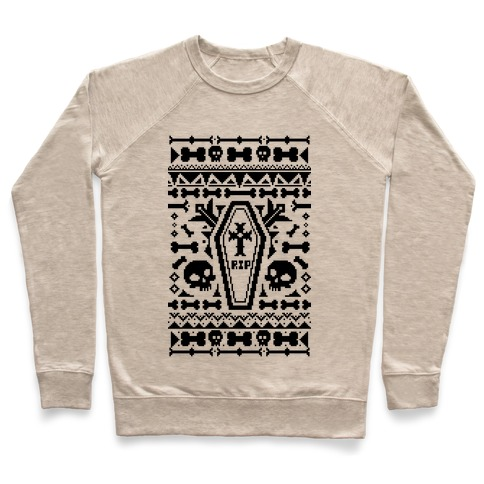 Coffins and Skulls Ugly Sweater Pullover