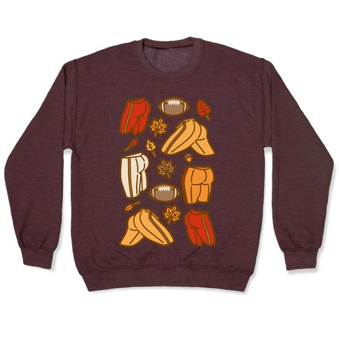Fall Football Butts  Pullover
