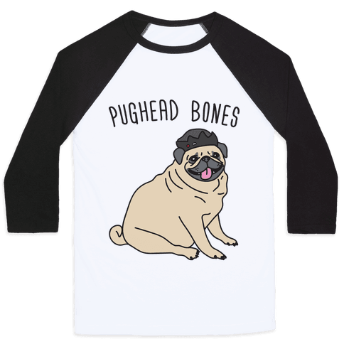 Pughead Bones Baseball Tee