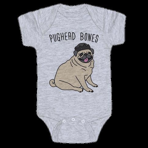 Pughead Bones Baby Onesy