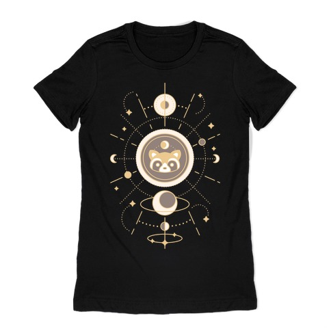 Raccoon Moon Womens T-Shirt