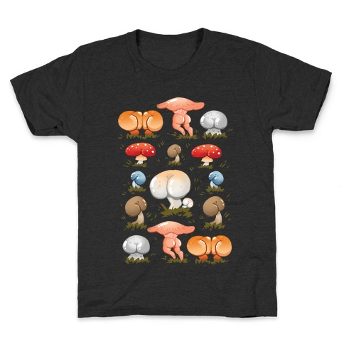 Butt Mushroom Pattern Kids T-Shirt