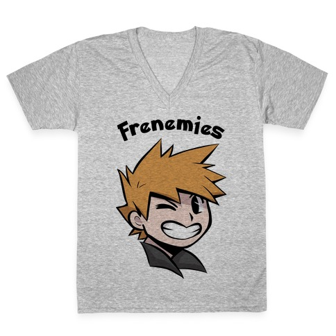 Best Frenemies (Blue) V-Neck Tee Shirt