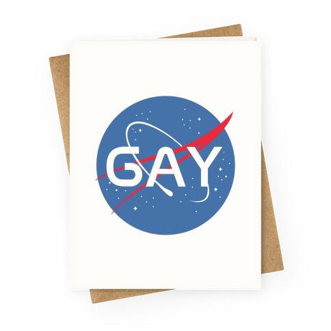 Gay Nasa Greeting Card