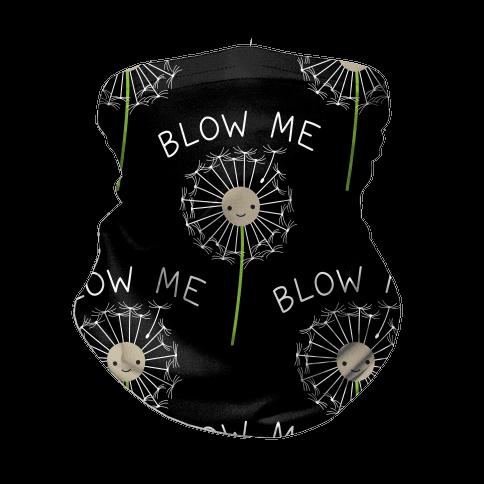 Blow Me Dandelion Neck Gaiter