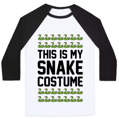 This Is My Snake Costume Baseball Tee