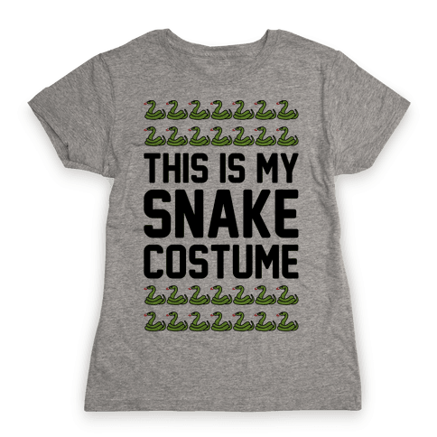 This Is My Snake Costume Womens T-Shirt