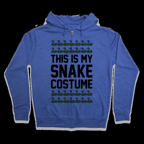 This Is My Snake Costume Zip Hoodie