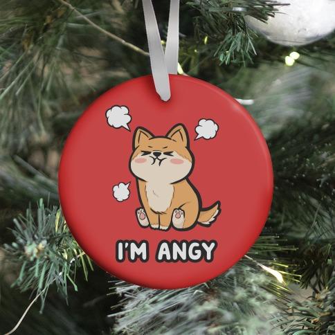 I'm Angy Shiba Inu (red) Ornament