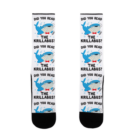 Did You Read The Krillabus? Whale Sock