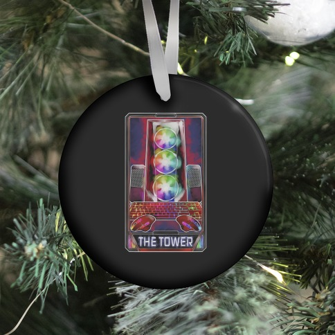 The Gaming Tower Tarot Card Ornament