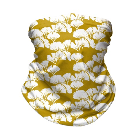 Ginkgo Leaf Gold Pattern Neck Gaiter