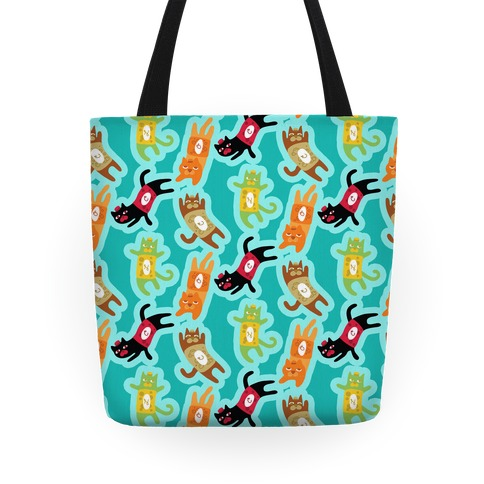 Carbonated Cats Pattern Tote