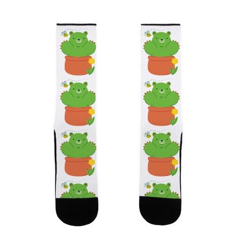 Bear Paw Cactus Sock