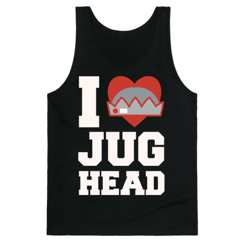 I Love Jughead White Print Tank Top