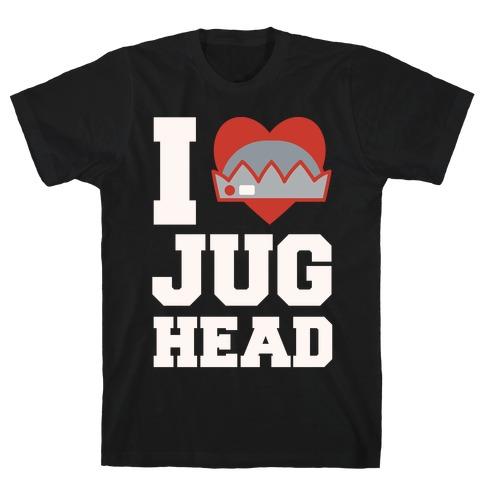 I Love Jughead White Print T-Shirt