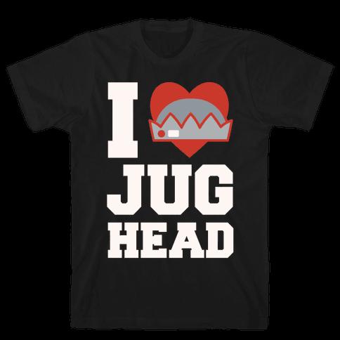 I Love Jughead White Print Mens T-Shirt