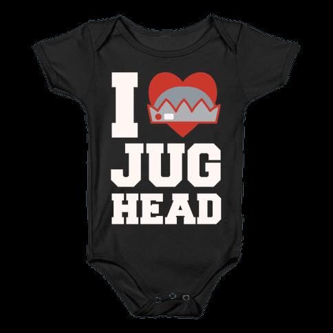 I Love Jughead White Print Baby Onesy