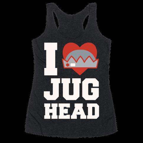 I Love Jughead White Print Racerback Tank Top