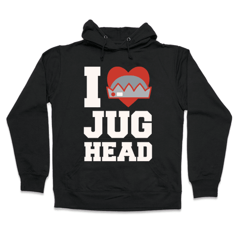 I Love Jughead White Print Hooded Sweatshirt