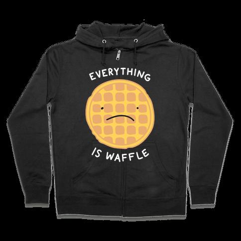 Everything Is Waffle Zip Hoodie