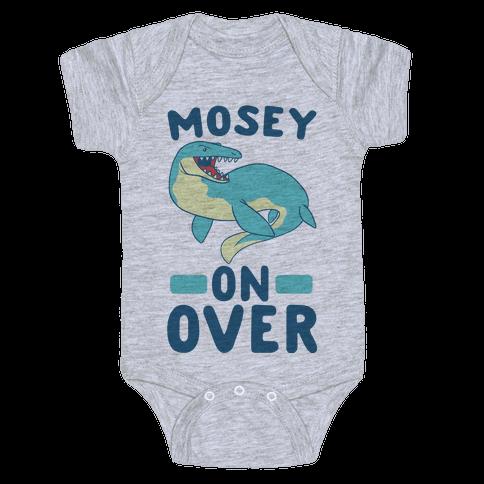 Mosey On Over - Mosasaurus Baby Onesy