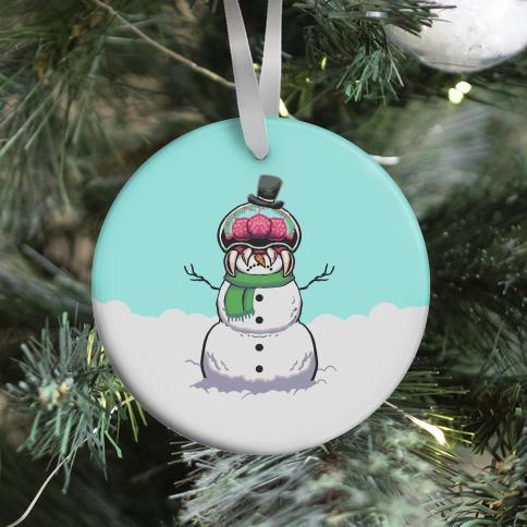 Metroid Snowman Ornament