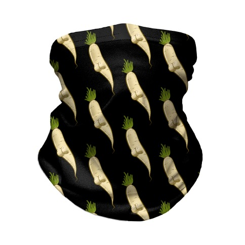 White Turnip Booty Pattern Neck Gaiter