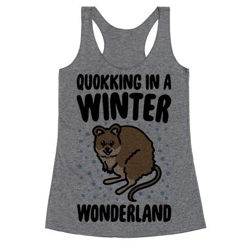 Quokking In A Winter Wonderland Racerback Tank Top