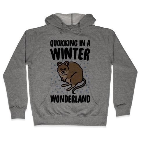 Quokking In A Winter Wonderland Hooded Sweatshirt