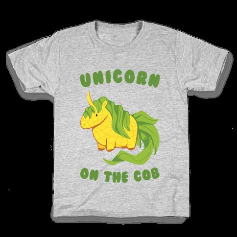 Unicorn On The Cob Kids T-Shirt