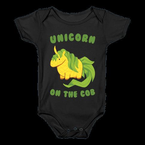 Unicorn On The Cob Baby Onesy