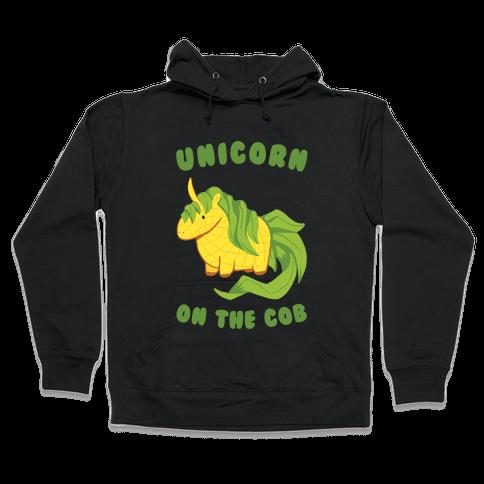 Unicorn On The Cob Hooded Sweatshirt