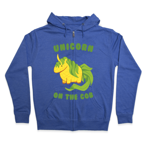Unicorn On The Cob Zip Hoodie