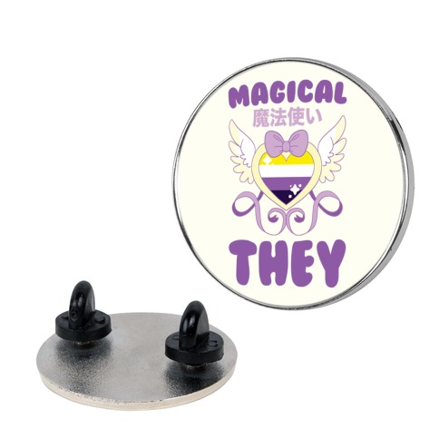 Magical They - Non-binary Pride Pin