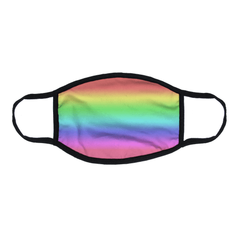 Rainbow Gradient Flat Face Mask
