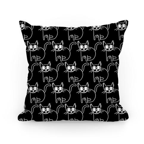 Scaredy Cat Pattern Pillow