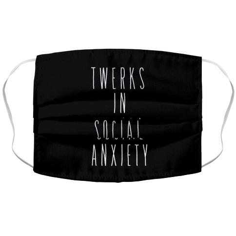 Twerks in Social Anxiety Accordion Face Mask