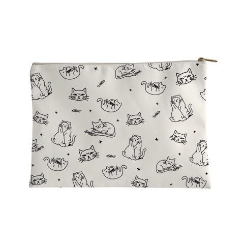 Sassy Cat Pattern Accessory Bag