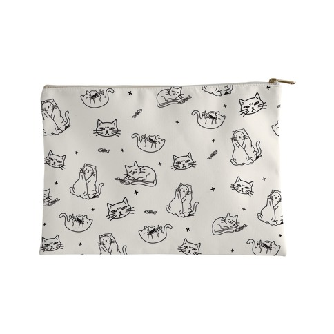 Sassy Cat Pattern Accessory Bag