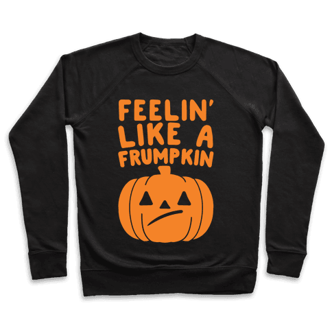 Feelin' Like A Frumpkin White Print Pullover