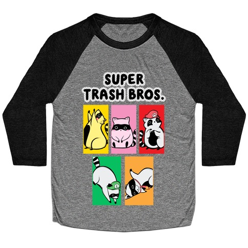 Super Trash Bros. Baseball Tee