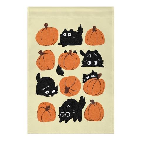 Pumpkin Cats Garden Flag